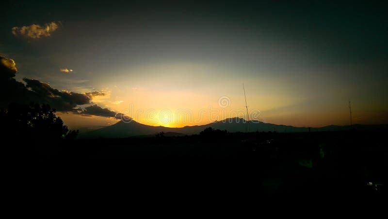 Volcanes Puebla obrazy royalty free
