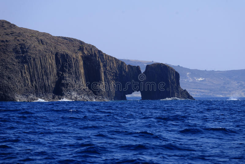 Volcanic arch on Milos island