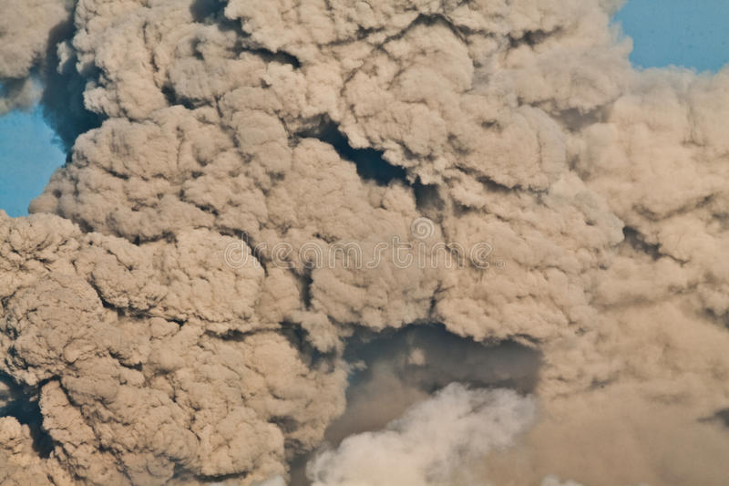 Volcanic ash cloud clouse royalty free stock image