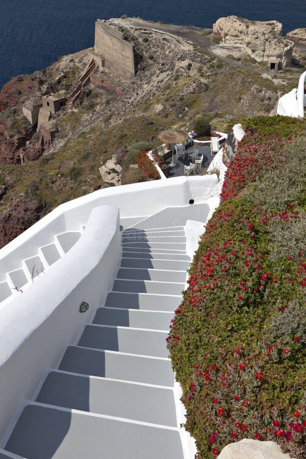 The Volcanic Caldera At Santorini Royalty Free Stock Photography