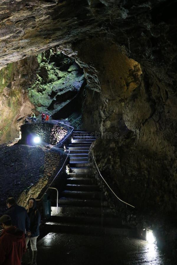 Cave Algar do Carvao, Terceira royalty free stock photography