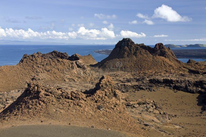 Volcanic cone - Bartolome - Galapagos Islands royalty free stock photo