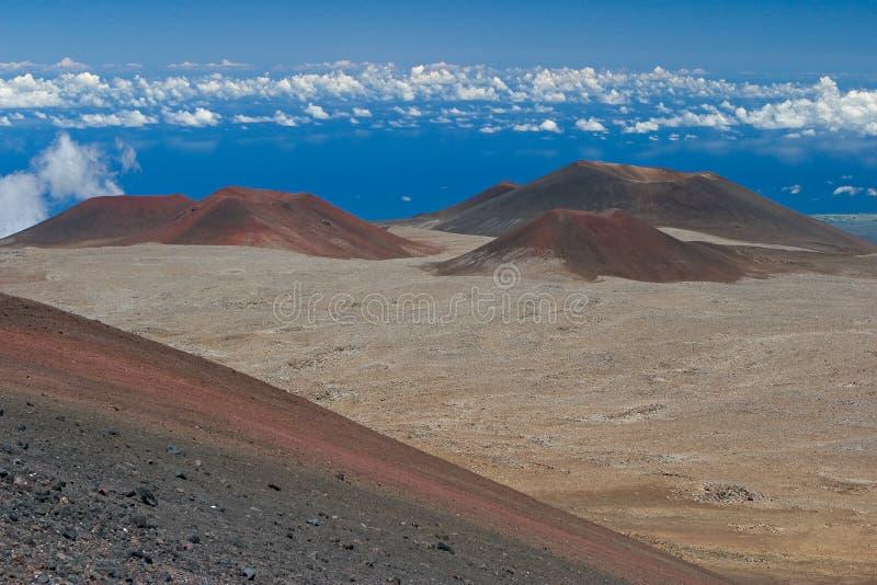 Volcanic cones royalty free stock photo