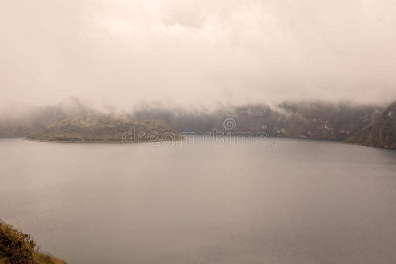 Volcanic Crater Lake Laguna Cuicocha In Ecuador stock image