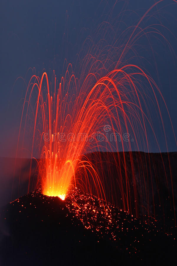 Volcanic eruption royalty free stock photo
