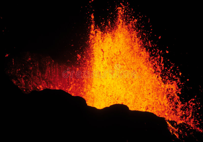 Volcanic eruption 2 royalty free stock photography