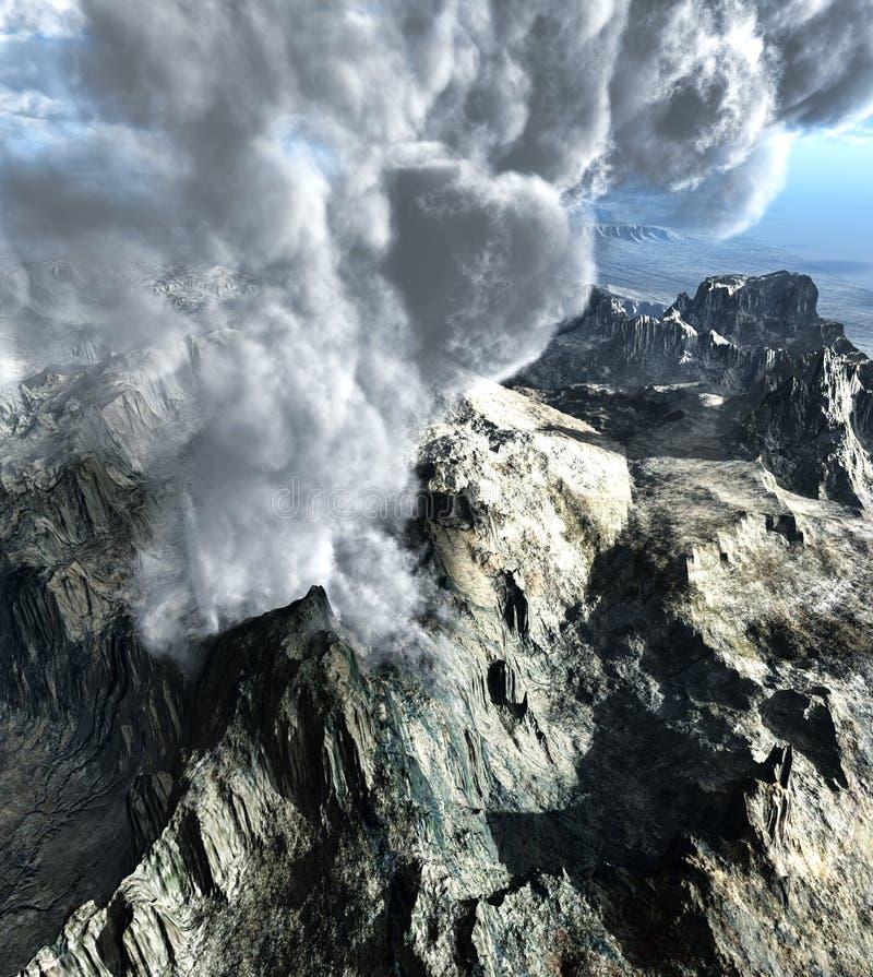 Volcanic eruption royalty free illustration