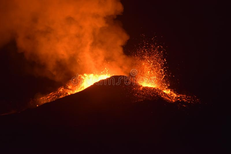Volcanic eruption royalty free stock image