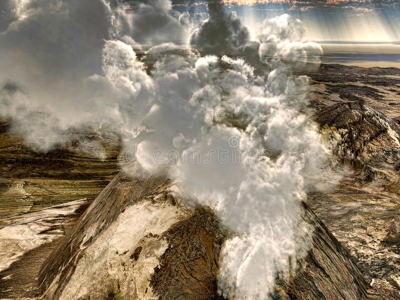 Download Volcanic eruptions stock illustration. Illustration of hawaii - 15310745