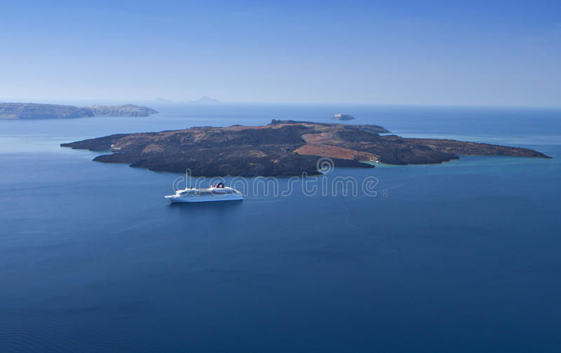 Download The Volcanic Island Of Santorini In Greece Stock Photo - Image: 24470464