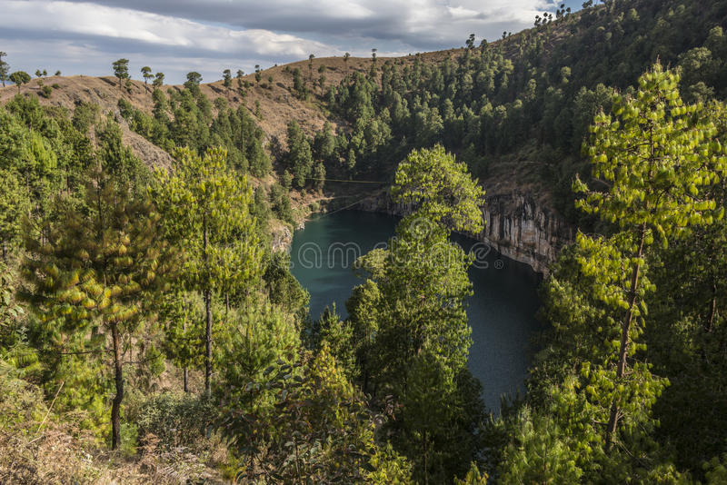 The volcanic lake Lac Tritiva royalty free stock photo