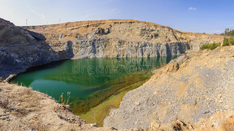 Volcanic lake in Racos, Romania royalty free stock image