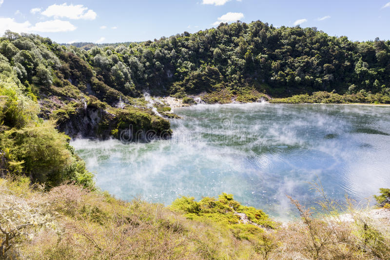 Volcanic lake at waimangu. An image of a volcanic lake at waimangu new zealand stock images