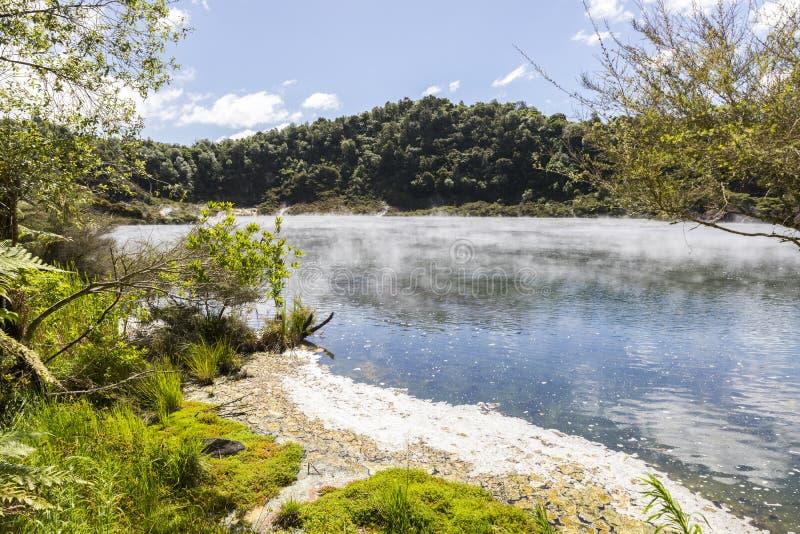 Volcanic lake at waimangu. An image of a volcanic lake at waimangu new zealand stock image