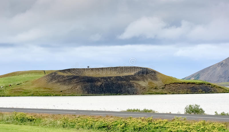 Download Crater Of Small Volcano, Myvatn Lake - Iceland Royalty Free Stock Images - Image: 26802799