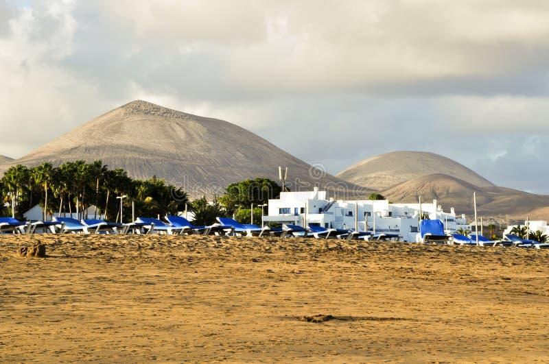 Download Volcanic Landscape, Lanzarote Stock Image - Image of beach, lanzarote: 17623181