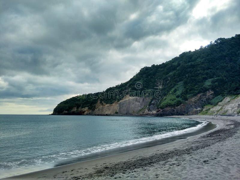Volcanic Landscape Sea stock images