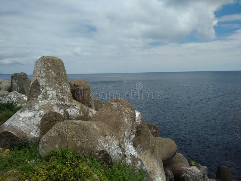 Tripod - Volcanic Landscape Sea royalty free stock photos