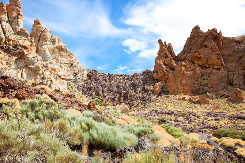 Volcanic Landscape On Teide, Tenerife, Spain. Stock Images