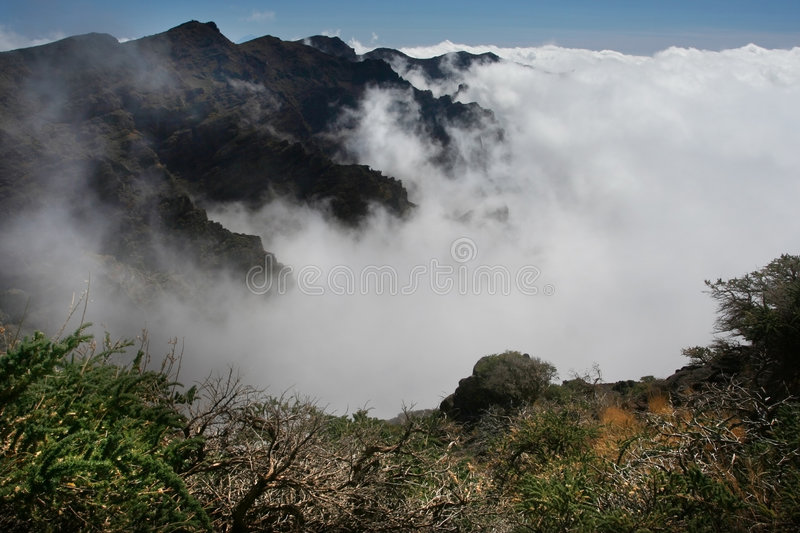 Volcanic mountains stock photography