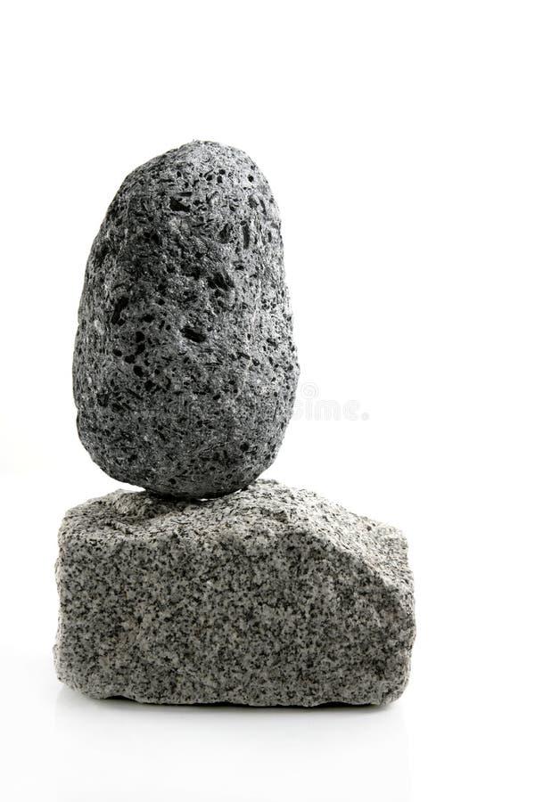 Volcanic Pumice, Over Granite Brick Stone Stock Images