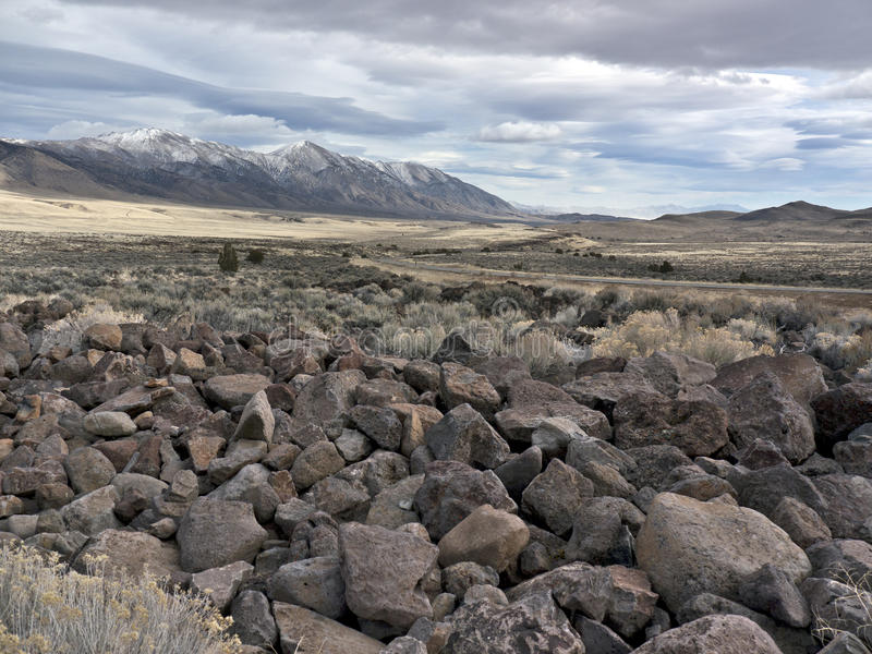 Download Volcanic Rock Field In The Northern Nevada Desert Stock Photo - Image: 23718546
