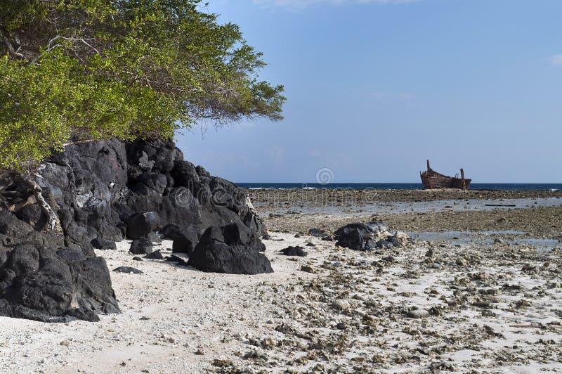 Volcanic Rock in shoreline