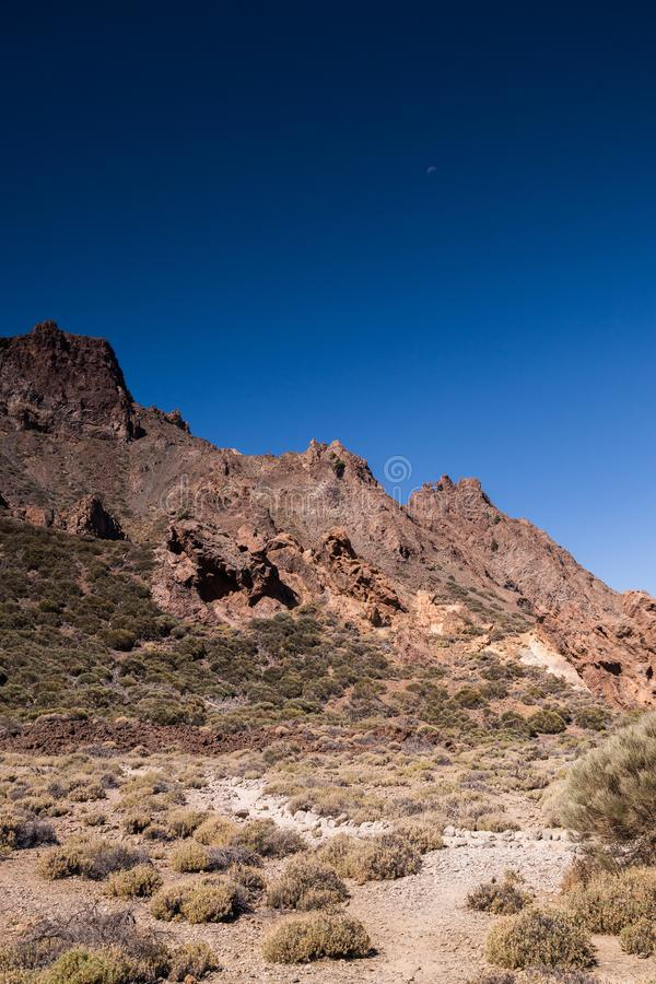 Volcanic rocks in Teide National Park in Tenerife, Canary Islands stock photos