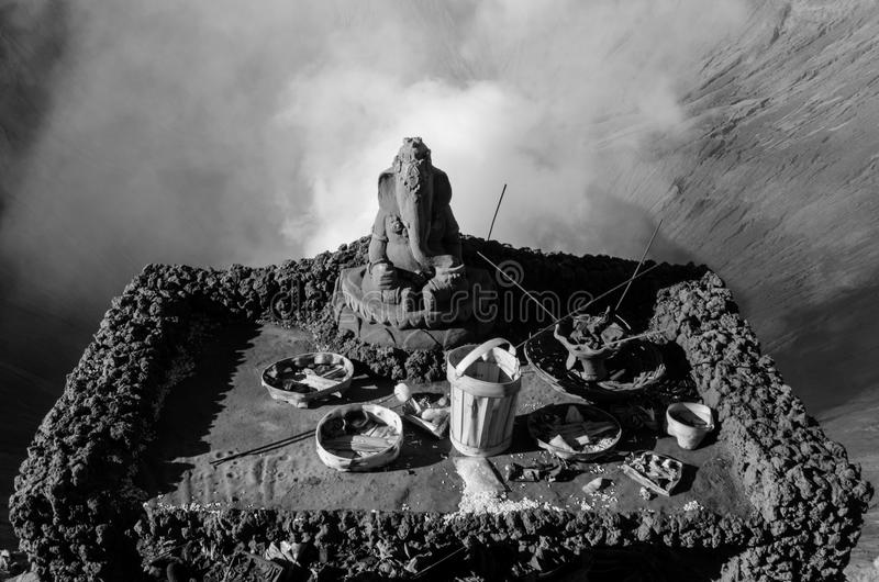 Download Volcanic Shrine stock photo. Image of overlooking, asia - 83706072
