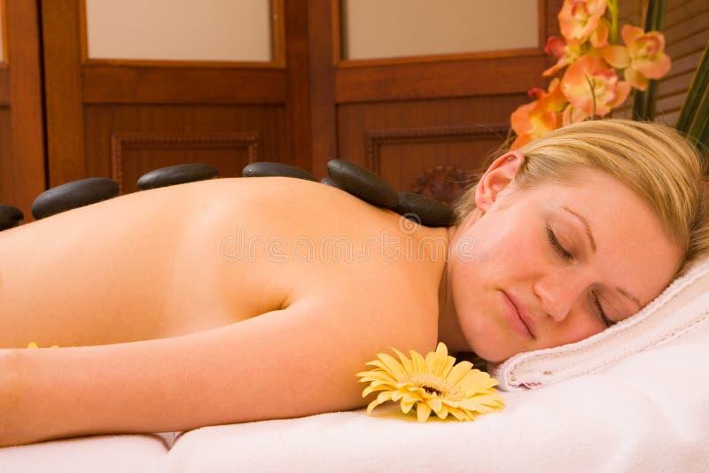 Volcanic Stone Massage Stock Photography