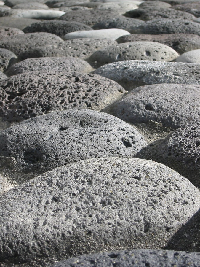Volcanic stones royalty free stock images