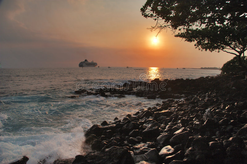 Download Volcanic Stones Of Hawaii In The Sunset Stock Photo - Image of black, island: 6127834