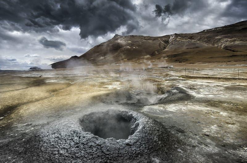 Volcanism i Island arkivfoton