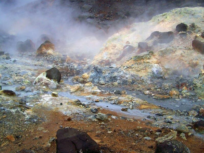 volcanisme de soufre de l'Islande image libre de droits