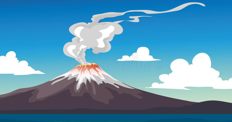 Download Volcano stock vector. Image of japan, lava, background - 18962660