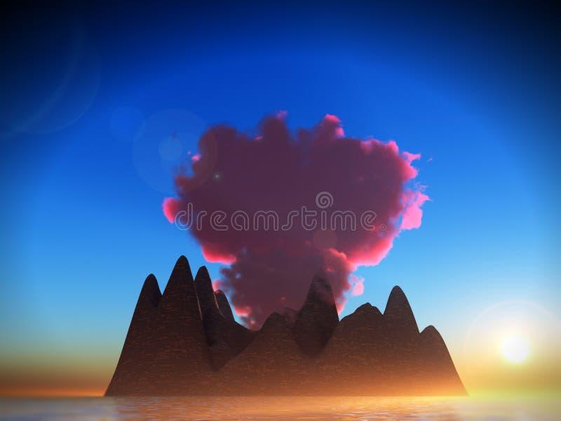 Volcano 2 stock photo