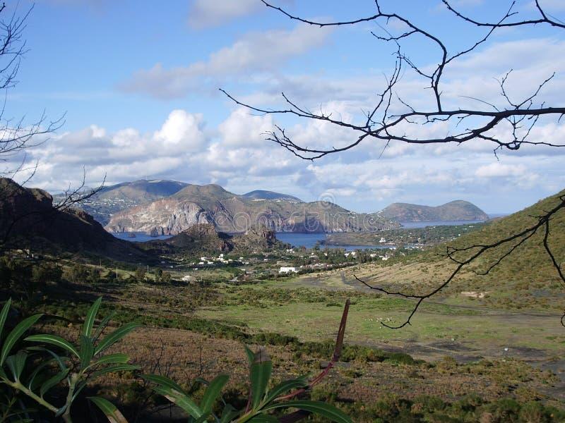 Download Volcano stock photo. Image of aeolian, geology, road, eruption - 688964