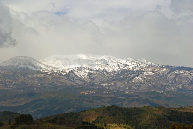 Volcano Adatara, Honshu, Japan stockbilder