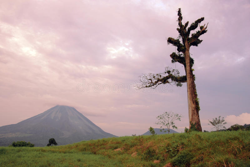 Volcano Arenal. Still active volcano Arenal in Costa Rica royalty free stock photo