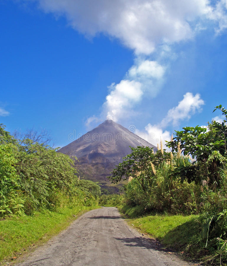 Volcano Arenal. Way to the active volcano Arenal (Costa Rica stock photography