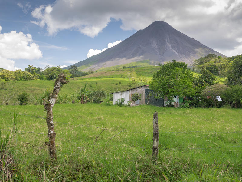Volcano Arenal in Costa Rica. Central America royalty free stock image