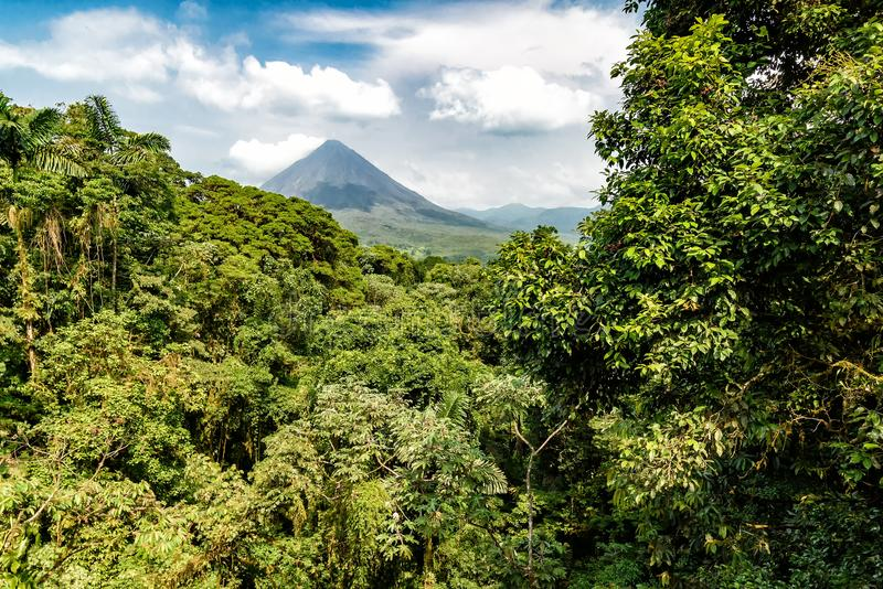 Volcano of Arenal in Costa Rica. Close to La Fortuna royalty free stock images