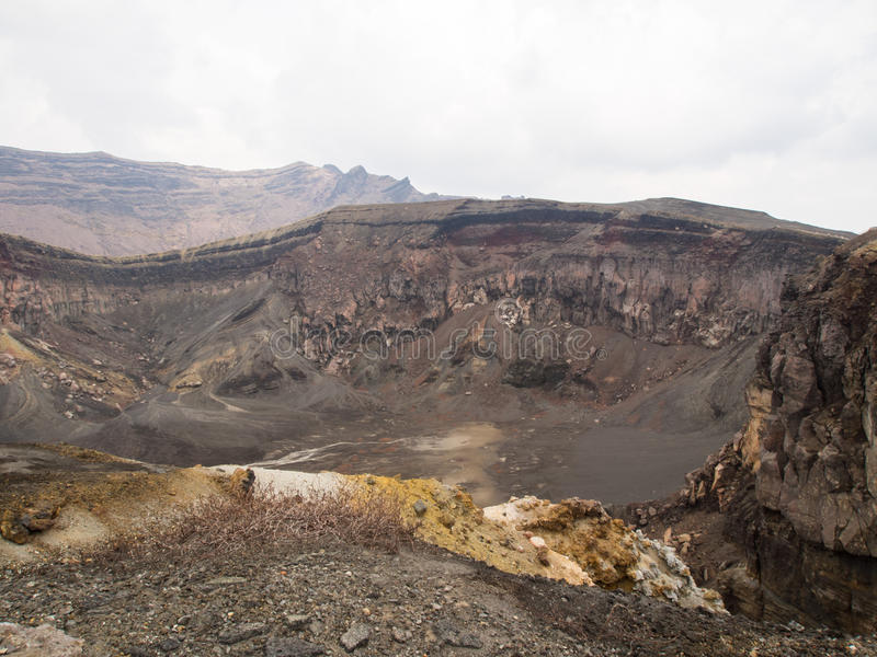 Download The volcano Aso stock image. Image of brown, caldera - 31043963