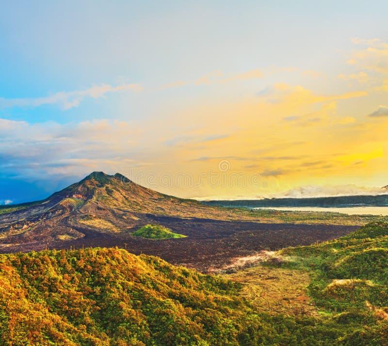 Volcano Batur royalty free stock image