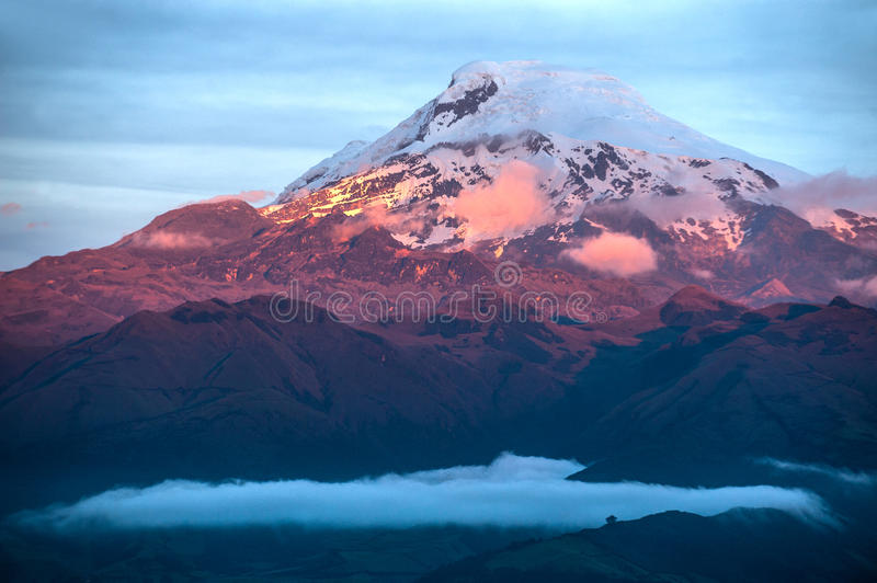 Volcano Cayambe en Equateur photographie stock