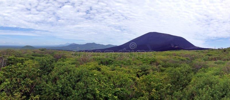 Volcano Cerro Negro in Nicaragua stock afbeelding