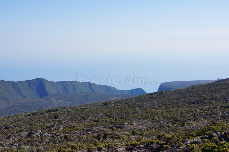 Volcano Cliff Piton de la fournaise fotos de archivo libres de regalías