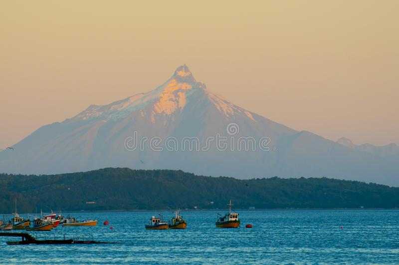 Volcano of Corcovado. The Volcano of Corcovado - Chile stock photography