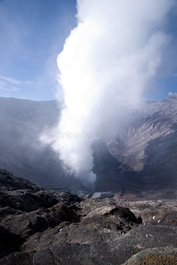 Volcano crater. Volcano smoke taken in Tengger Caldera, East Java Indonesia royalty free stock photos