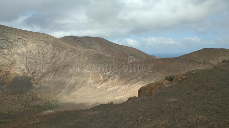 A volcano. The crater of Caldera Blanca royalty free stock images